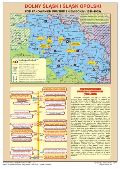 historia śląśka mapy ścienne